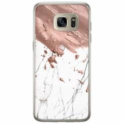 Casimoda Samsung Galaxy S7 Edge siliconen hoesje - Marble splash