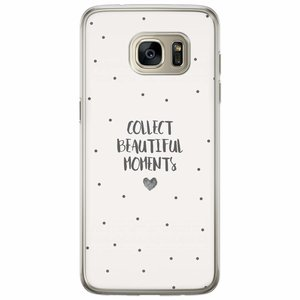 Casimoda Samsung Galaxy S7 Edge siliconen hoesje - Collect beautiful moments