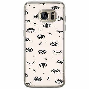 Casimoda Samsung Galaxy S7 Edge siliconen hoesje - Eyes on you