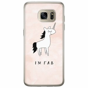 Casimoda Samsung Galaxy S7 Edge siliconen hoesje - I'm fab