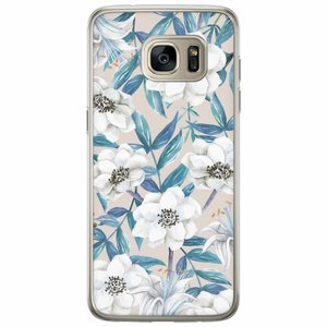 Casimoda Samsung Galaxy S7 Edge siliconen hoesje - Touch of flowers