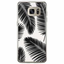 Casimoda Samsung Galaxy S7 Edge siliconen hoesje - Palm leaves silhouette