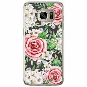 Casimoda Samsung Galaxy S7 Edge siliconen hoesje - Rose story