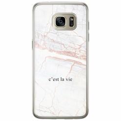 Casimoda Samsung Galaxy S7 Edge siliconen hoesje - C'est la vie