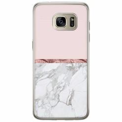 Casimoda Samsung Galaxy S7 Edge siliconen hoesje - Rose all day
