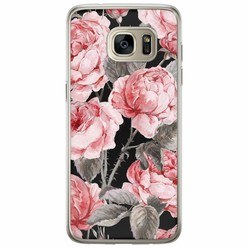 Casimoda Samsung Galaxy S7 Edge siliconen hoesje - Moody flowers