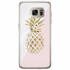 Samsung Galaxy S7 Edge siliconen hoesje - Ananas