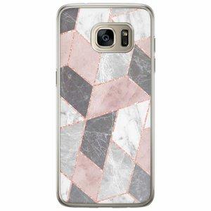Casimoda Samsung Galaxy S7 Edge siliconen hoesje - Stone grid