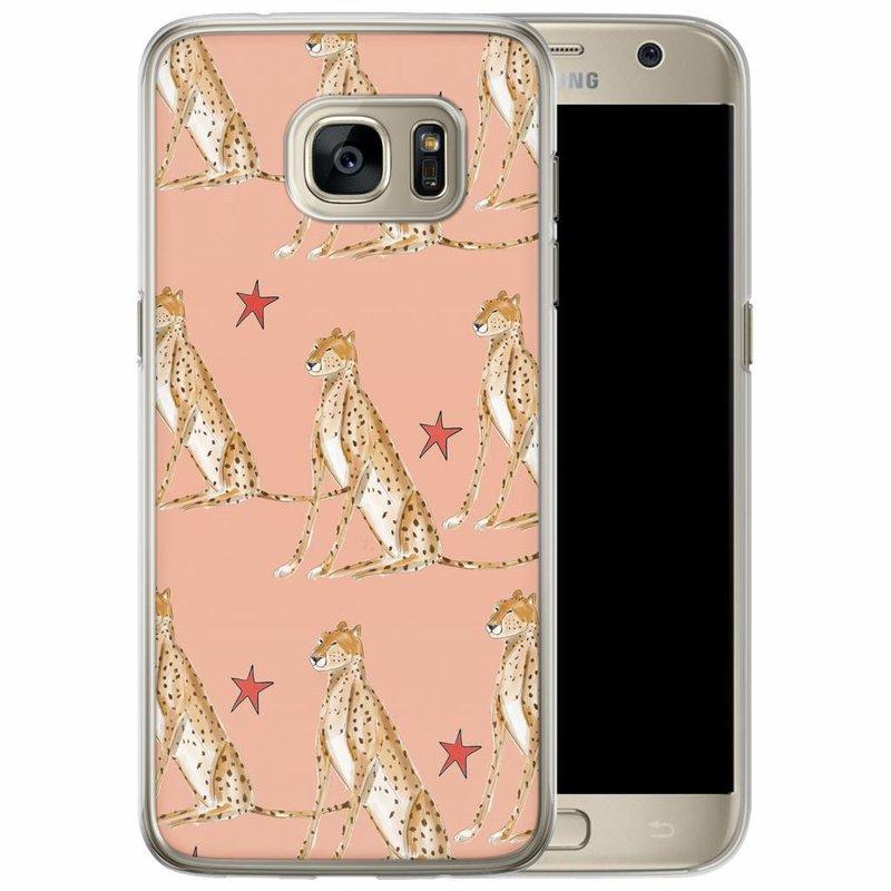 Casimoda Samsung Galaxy S7 Edge siliconen hoesje - Cheetah print