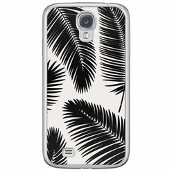 Samsung Galaxy S4 siliconen hoesje - Palm leaves silhouette