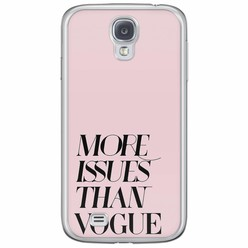 Samsung Galaxy S4 siliconen hoesje - Vogue issues