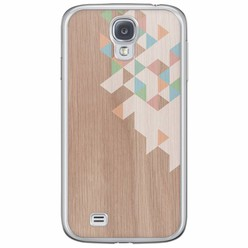 Samsung Galaxy S4 siliconen hoesje - Wood blocks