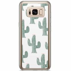 Casimoda Samsung Galaxy S8 Plus siliconen hoesje - Cactus print