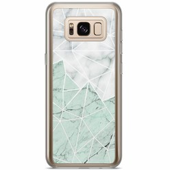 Casimoda Samsung Galaxy S8 Plus siliconen hoesje - Marmer mint mix
