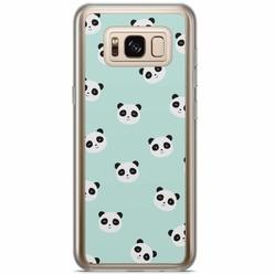 Samsung Galaxy S8 Plus siliconen hoesje - Panda print