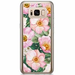 Samsung Galaxy S8 Plus siliconen hoesje - Spring floral