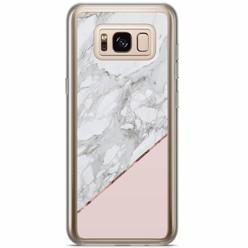 Samsung Galaxy S8 Plus siliconen hoesje - Marmer roze