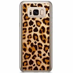 Samsung Galaxy S8 Plus siliconen hoesje - Luipaard print