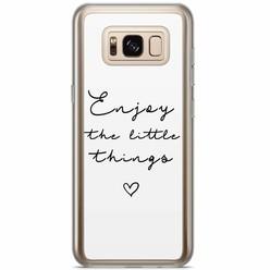 Casimoda Samsung Galaxy S8 Plus siliconen hoesje - Enjoy life