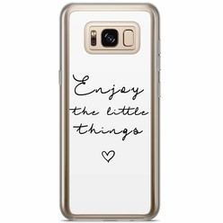 Samsung Galaxy S8 Plus siliconen hoesje - Enjoy life