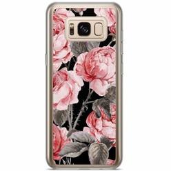 Samsung Galaxy S8 Plus siliconen hoesje - Moody florals