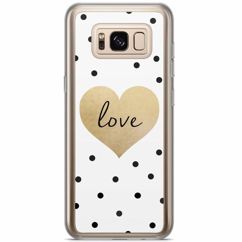 Casimoda Samsung Galaxy S8 Plus siliconen hoesje - Love dots