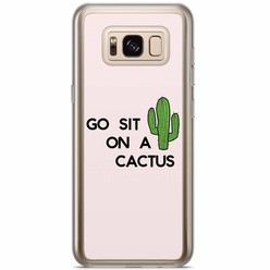Samsung Galaxy S8 Plus siliconen hoesje - Go sit on a cactus