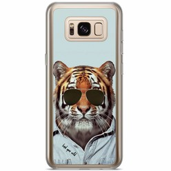 Casimoda Samsung Galaxy S8 Plus siliconen hoesje - Tijger wild