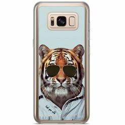 Samsung Galaxy S8 Plus siliconen hoesje - Tijger wild