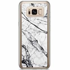 Samsung Galaxy S8 Plus siliconen hoesje - Grijs marmer