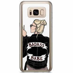 Samsung Galaxy S8 Plus siliconen hoesje - Badass babe