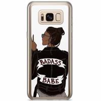 Casimoda Samsung Galaxy S8 Plus siliconen hoesje - Badass babe