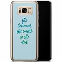 Casimoda Samsung Galaxy S8 Plus siliconen hoesje - She believed