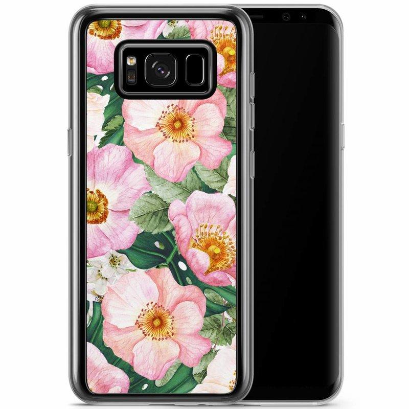 Casimoda Samsung Galaxy S8 Plus siliconen hoesje - Spring floral