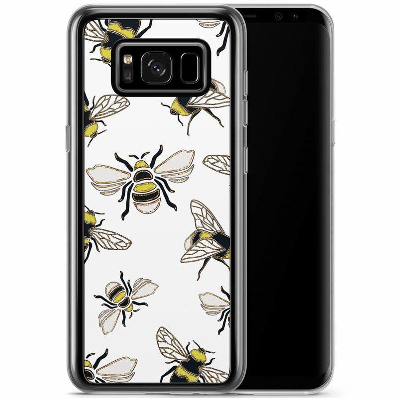 Casimoda Samsung Galaxy S8 Plus siliconen hoesje - Queen bee