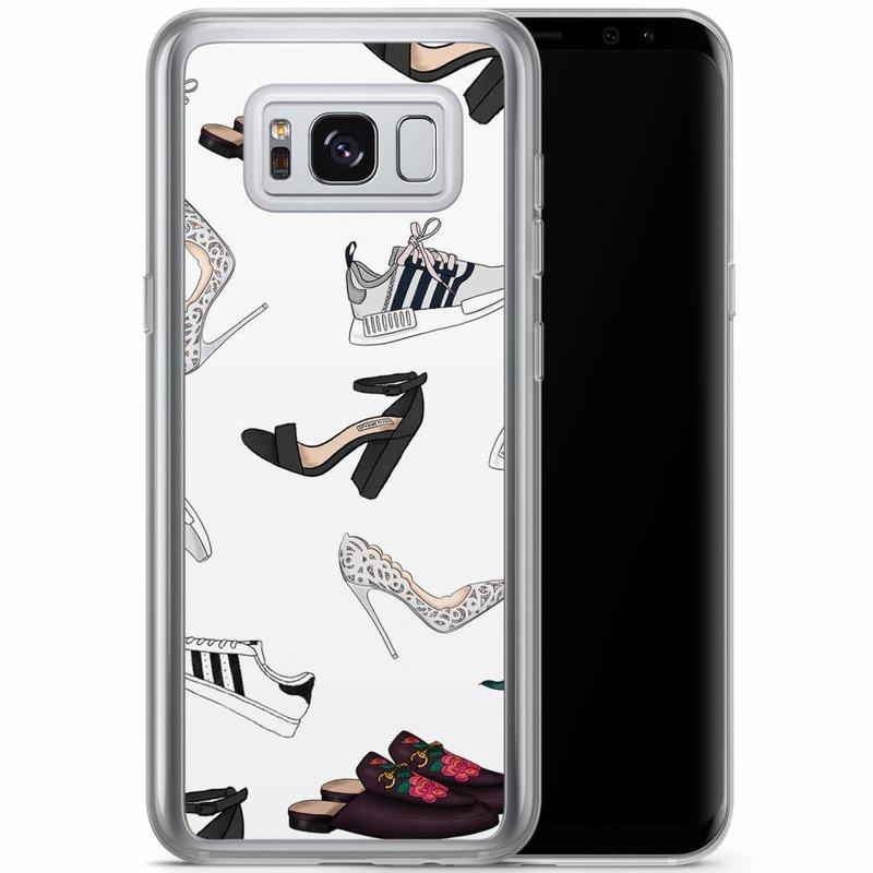 Casimoda Samsung Galaxy S8 Plus siliconen hoesje - Shoe stash