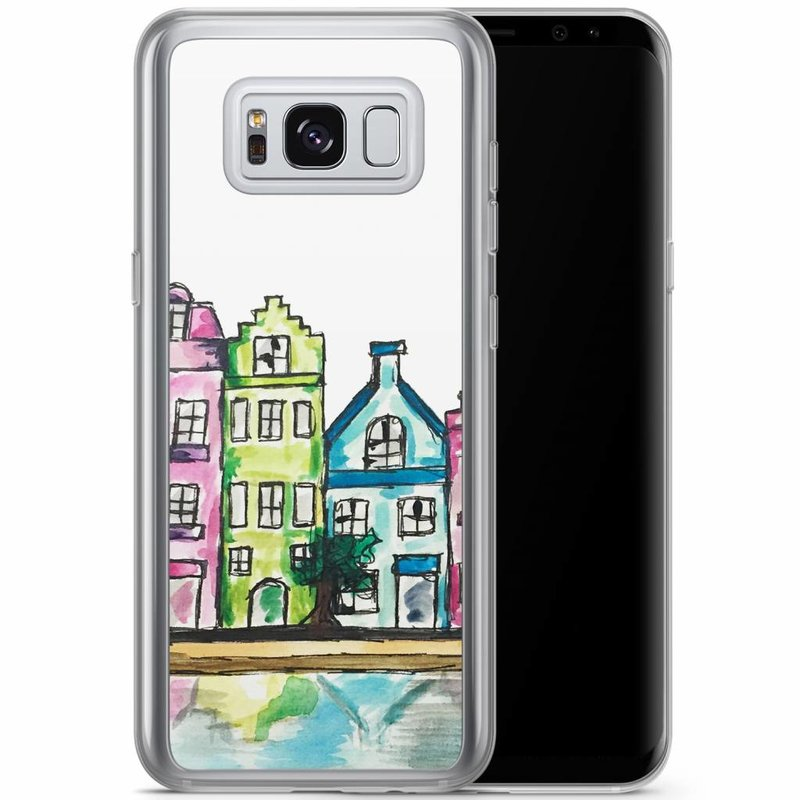 Casimoda Samsung Galaxy S8 Plus siliconen hoesje - Amsterdam