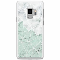Samsung Galaxy S9 hoesje - Marmer mint mix
