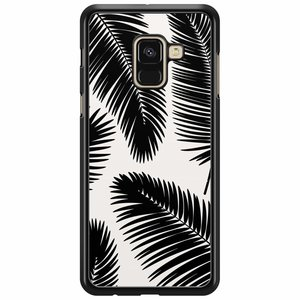 Samsung Galaxy A8 2018  hoesje - Palm leaves silhouette