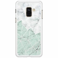 Samsung Galaxy A8 2018  hoesje - Marmer mint mix