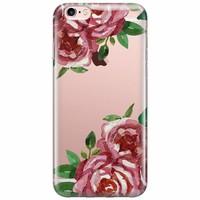 iPhone 6/6s transparant hoesje - Rode rozen