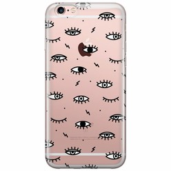 iPhone 6/6s transparant hoesje - Eye see you