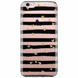 iPhone 6/6s transparant hoesje - hart streepjes