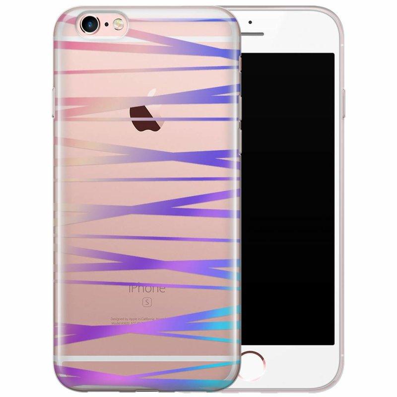 iPhone 6/6s siliconen hoesje - Hologram lines