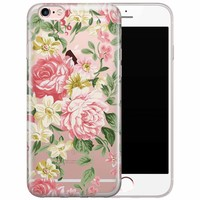 iPhone 6/6s siliconen hoesje - Floral