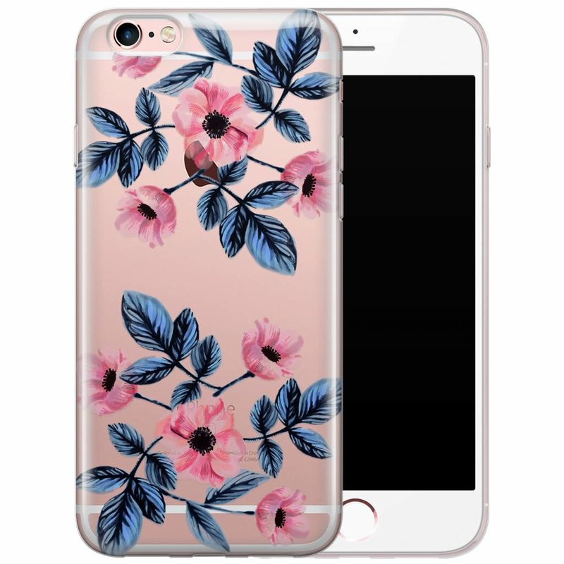 iPhone 6/6s transparant hoesje - Floral mood