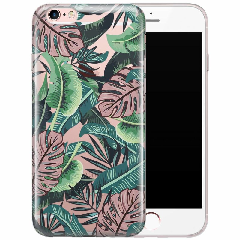 iPhone 6/6s transparant hoesje - Jungle