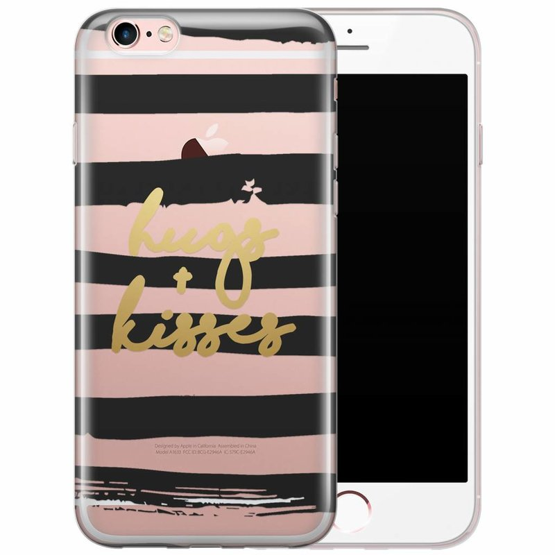 iPhone 6/6s transparant hoesje - Hugs & kisses
