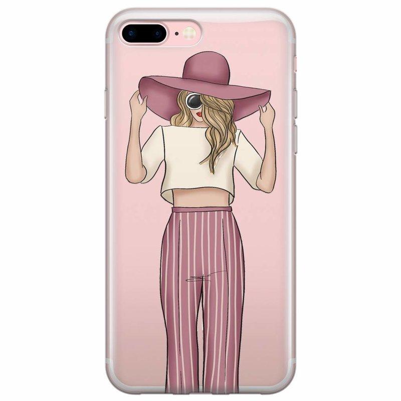 iPhone 8 Plus/7 Plus transparant hoesje - Summer girl
