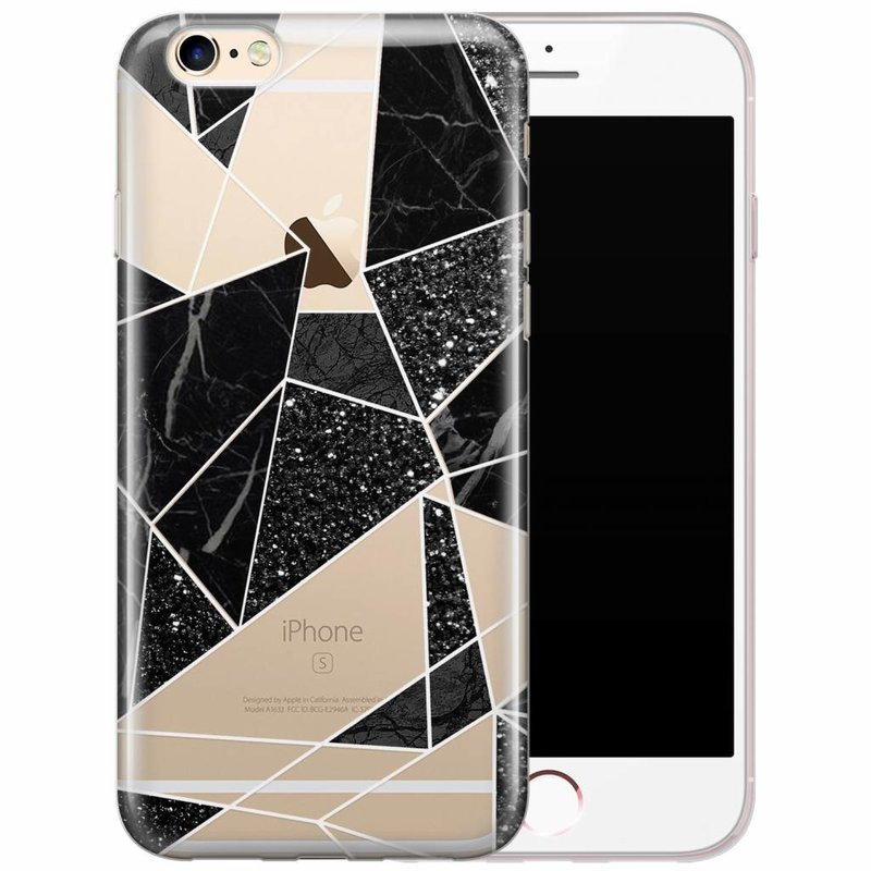 iPhone 6/6s transparant hoesje - Abstract painted